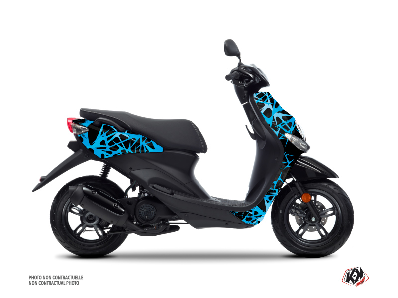 MBK Ovetto Scooter Cosmic Graphic Kit Blue