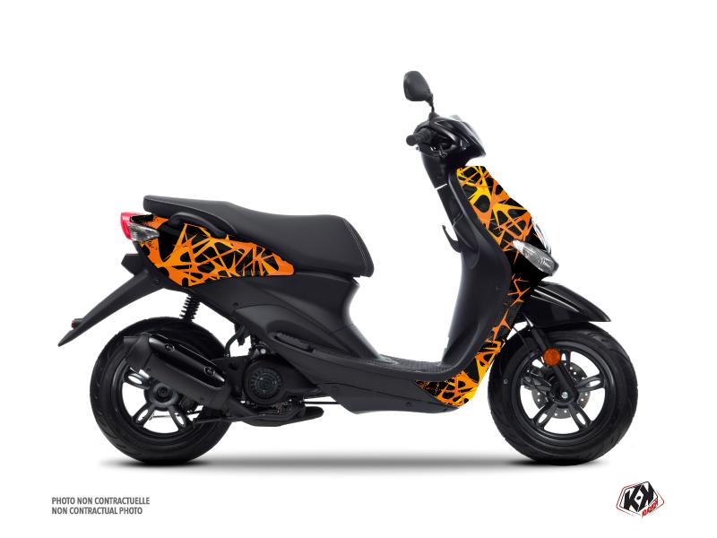 MBK Ovetto Scooter Cosmic Graphic Kit Orange