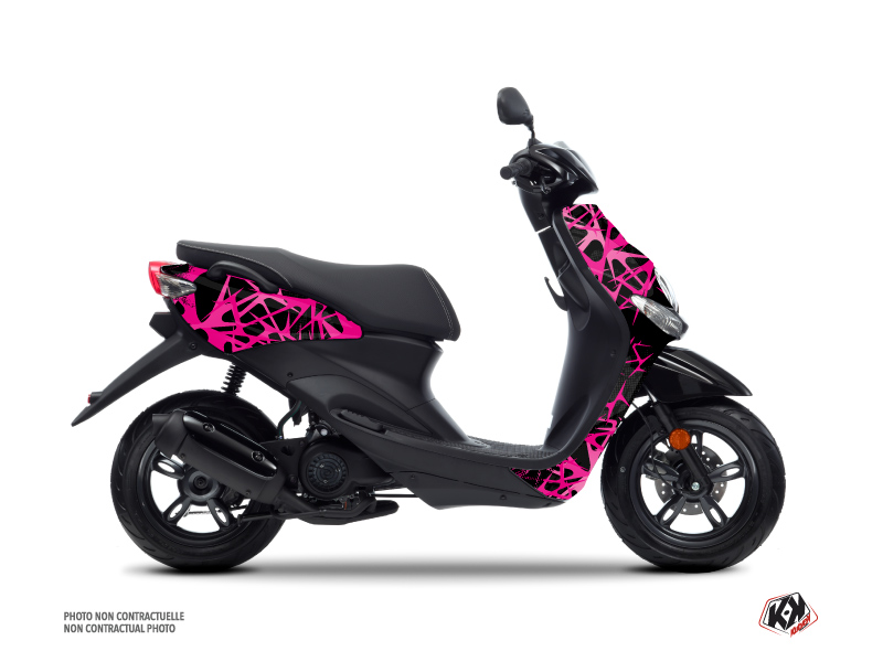 Yamaha NEOS Scooter Cosmic Graphic Kit Pink