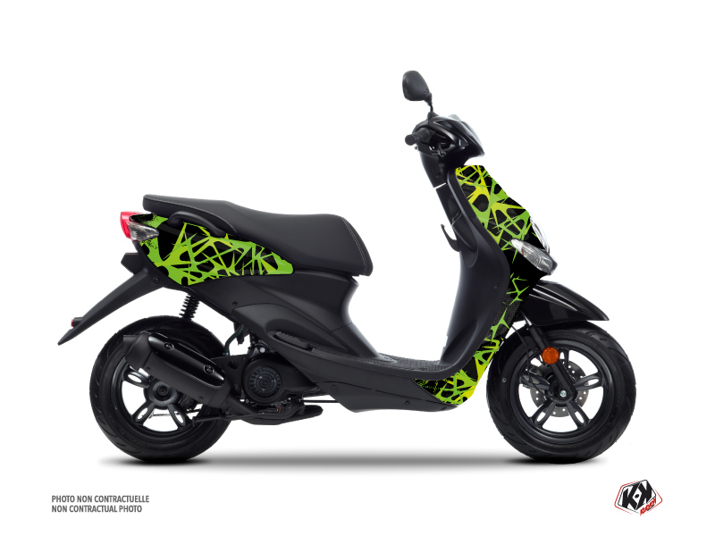 Yamaha NEOS Scooter Cosmic Graphic Kit Green