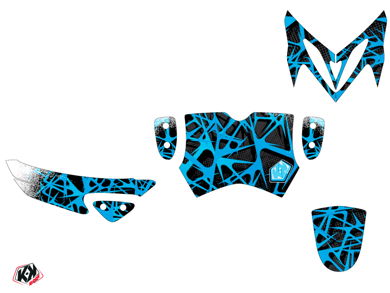MBK Stunt Scooter Cosmic Graphic Kit Blue