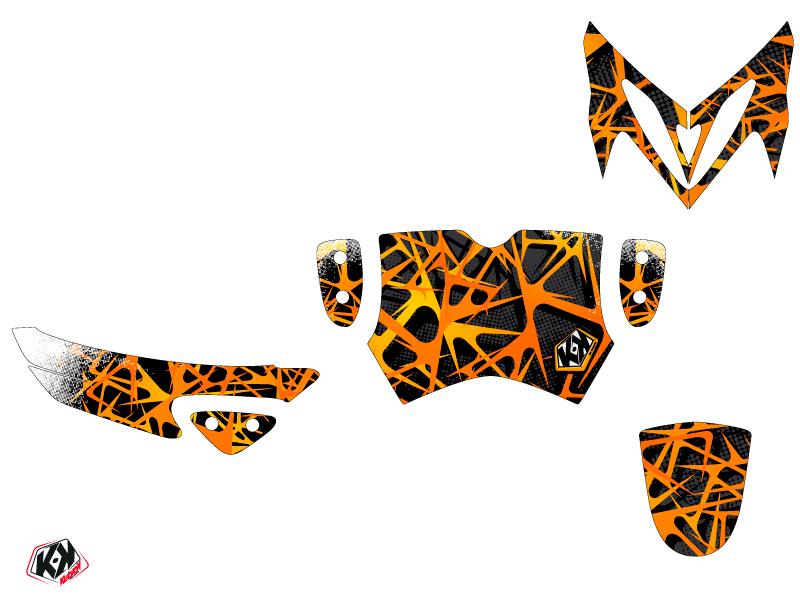 MBK Stunt Scooter Cosmic Graphic Kit Orange