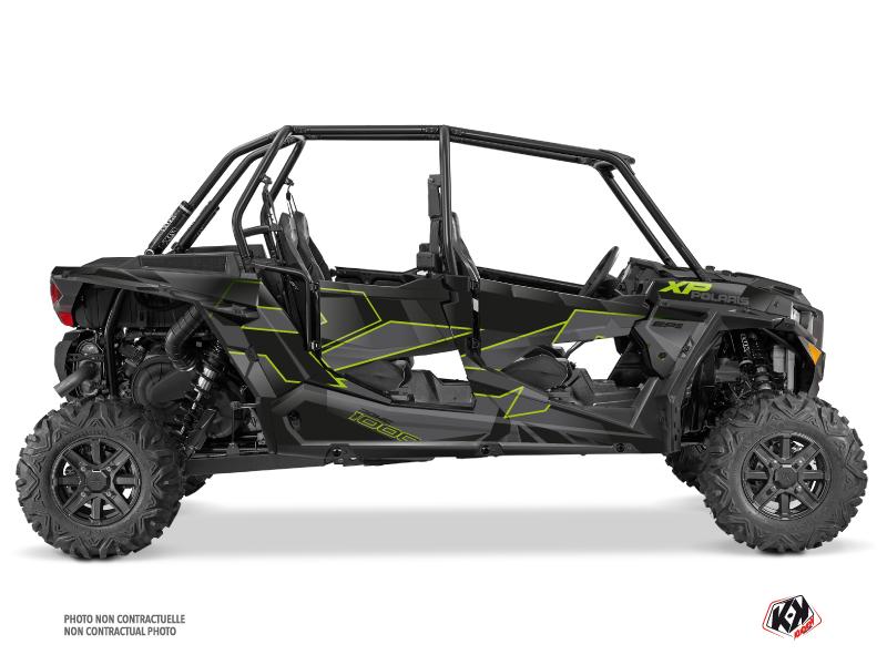 Polaris RZR 1000 4 doors UTV Cruiser Graphic Kit Neon Grey