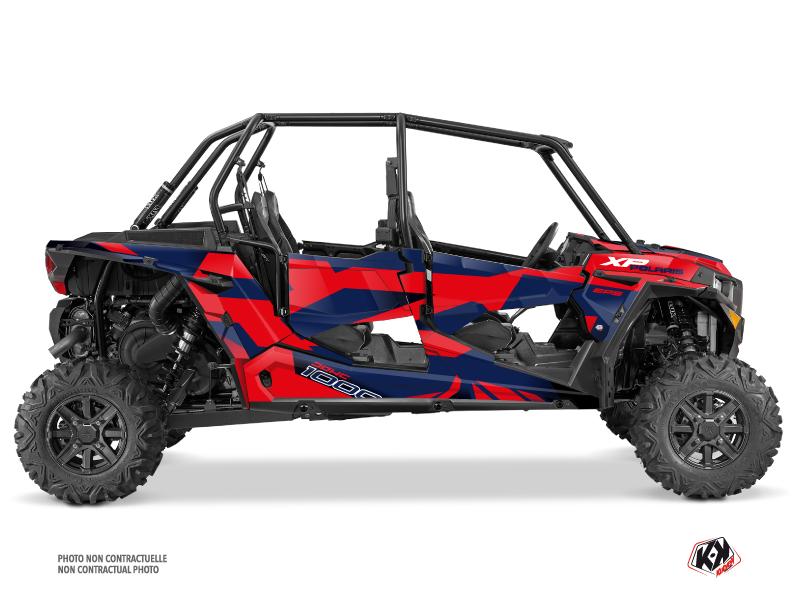 Polaris RZR 1000 4 doors UTV Cruiser Graphic Kit Red Blue