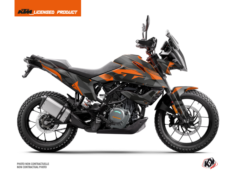 KTM 390 Adventure Street Bike Delta Graphic Kit Black Orange