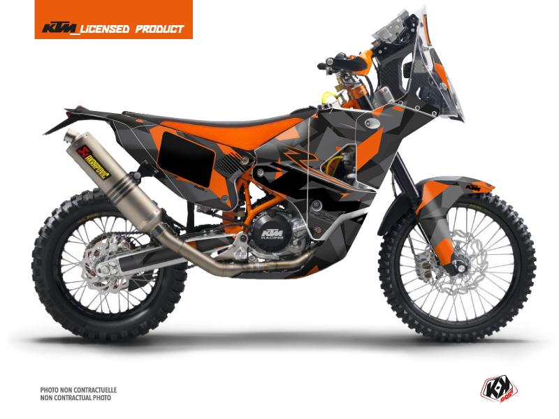 KTM 450 Rally Dirtbike Delta Graphic Kit Black Orange