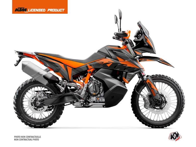 KTM 790 Adventure R Street Bike Delta Graphic Kit Black Orange