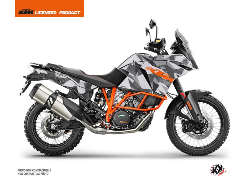 KTM 1090 Adventure R Street Bike Delta Graphic Kit Grey Orange