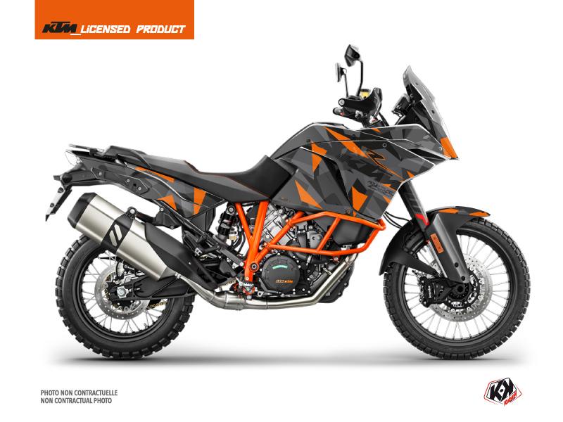 KTM 1090 Adventure R Street Bike Delta Graphic Kit Black Orange