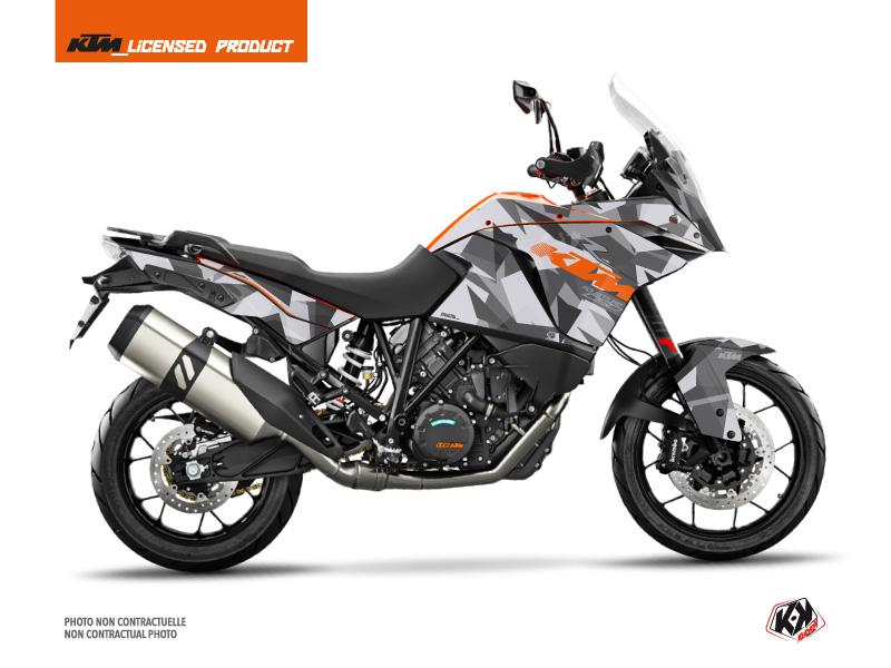 KTM 1090 Adventure Street Bike Delta Graphic Kit Grey Orange