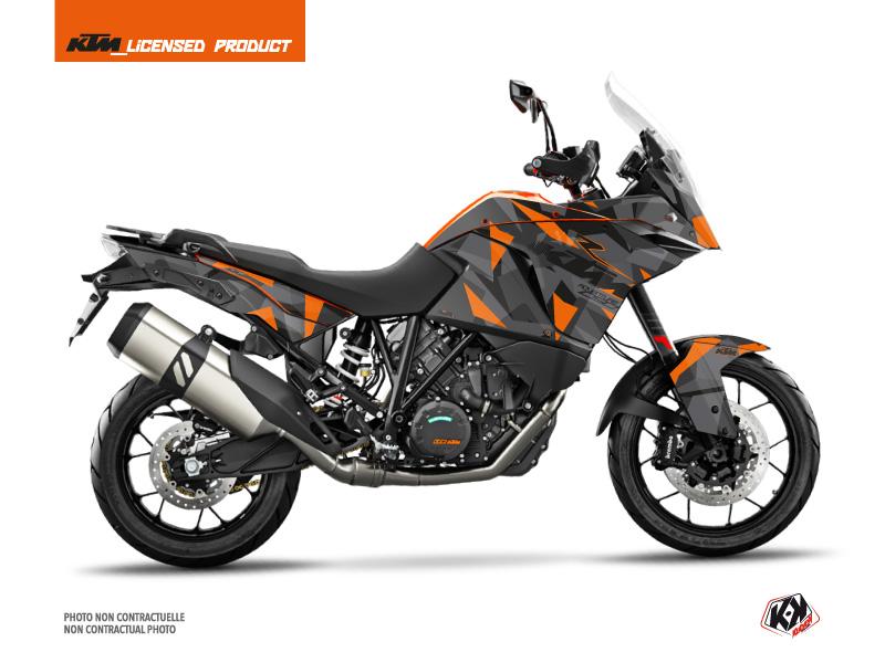 KTM 1090 Adventure Street Bike Delta Graphic Kit Black Orange