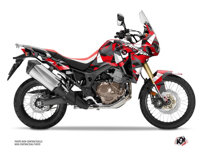 Honda Africa Twin CRF 1000 L Street Bike Delta Graphic Kit Grey Red