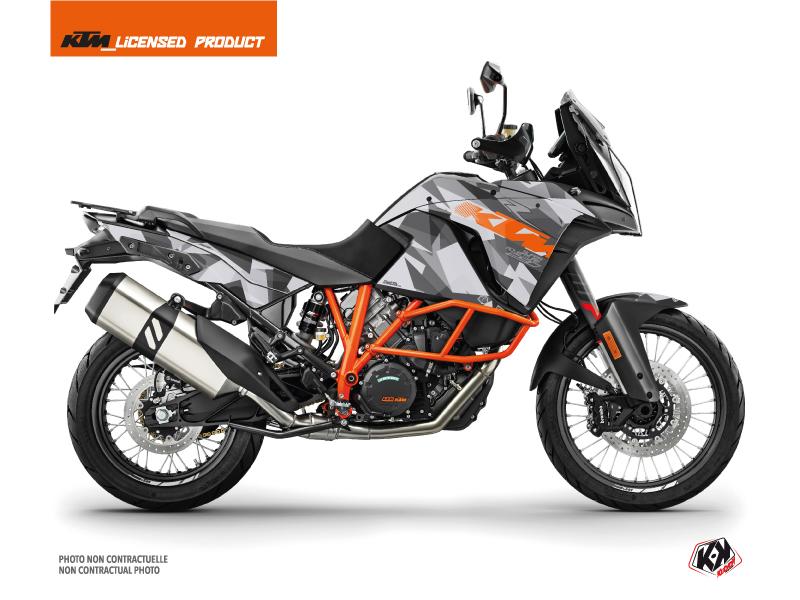 KTM 1290 Super Adventure R Street Bike Delta Graphic Kit Grey Orange