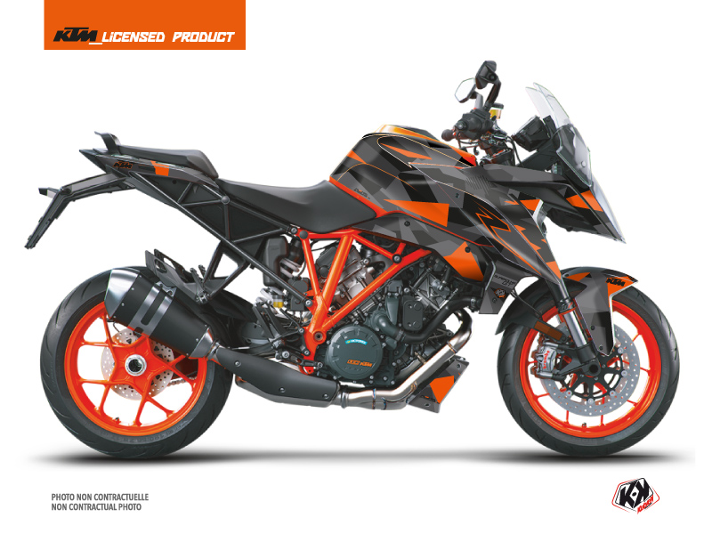 Kit Déco Moto Delta KTM Super Duke 1290 GT Noir Orange