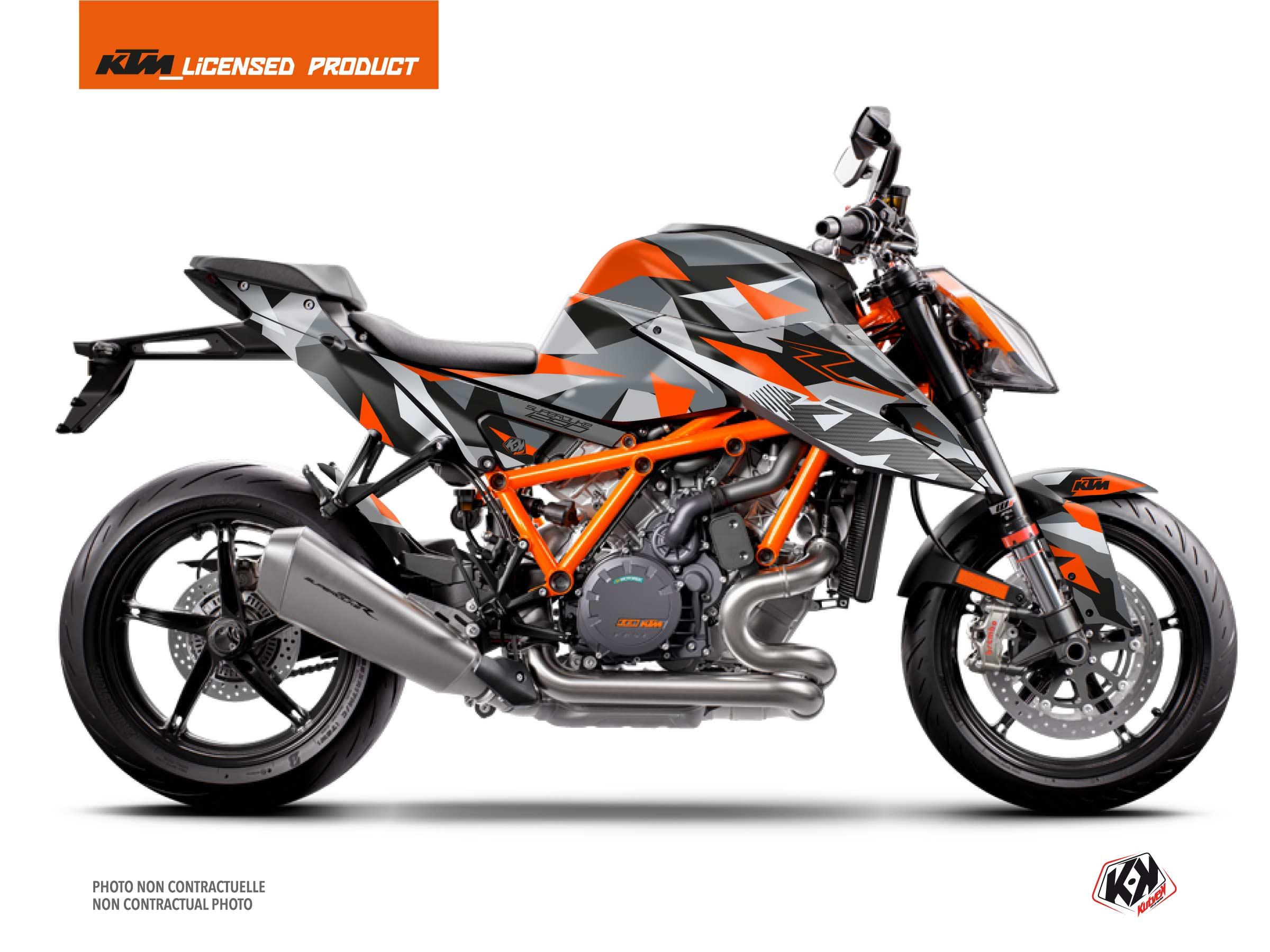KTM Super Duke 1290 R 2020-2022 Street Bike Delta V2 Graphic Kit Orange FULL