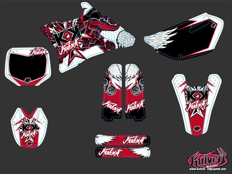 Yamaha 85 YZ Dirt Bike Demon Graphic Kit Red