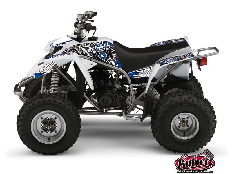 Yamaha Blaster ATV Demon Graphic Kit Blue