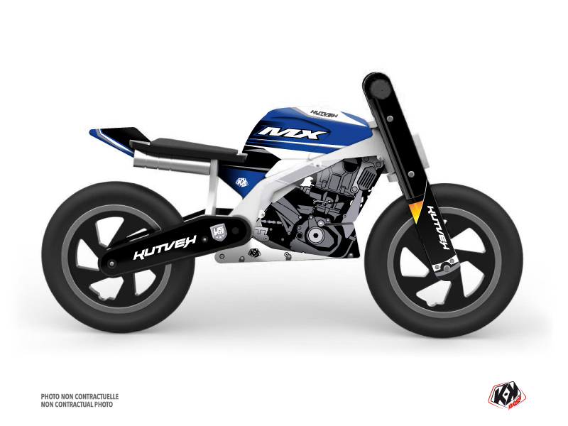 Balance Bike + KUTVEK US STYLE Graphic Kit Blue