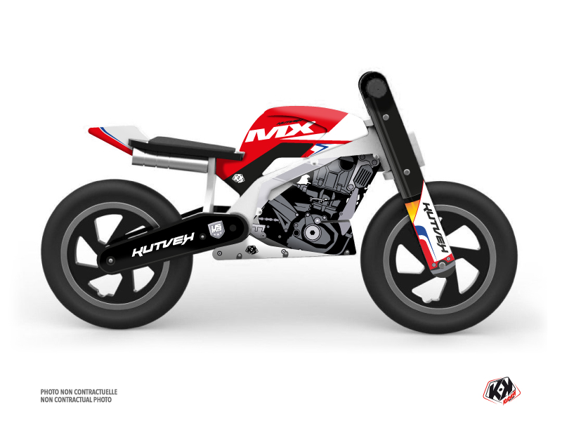 Balance Bike + KUTVEK US STYLE Graphic Kit Red