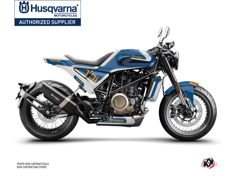Husqvarna Vitpilen 701 Street Bike Dusk Graphic Kit White Blue