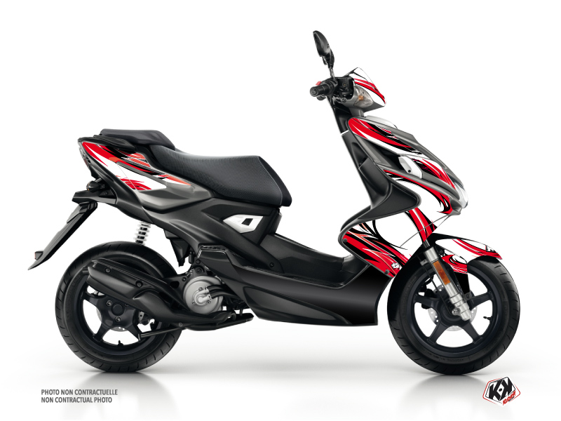 Yamaha Aerox Scooter Electro Graphic Kit Red