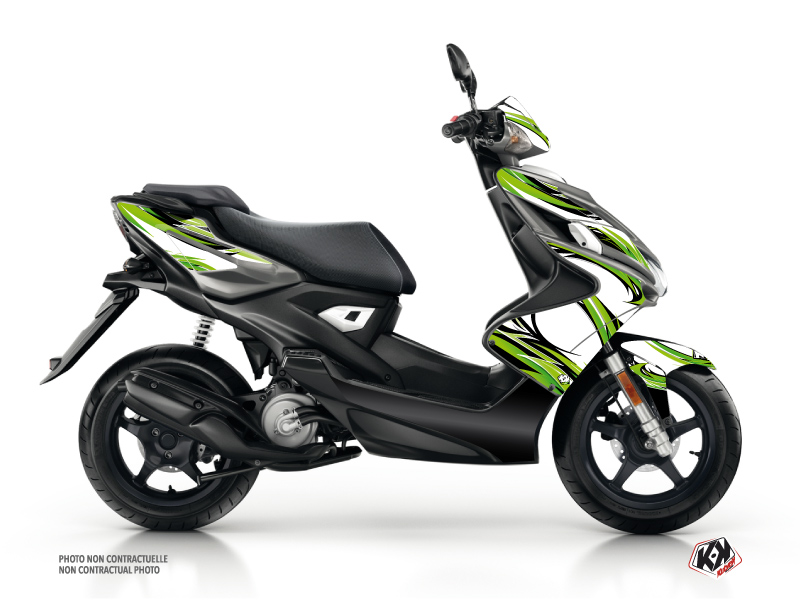 Yamaha Aerox Scooter Electro Graphic Kit Green