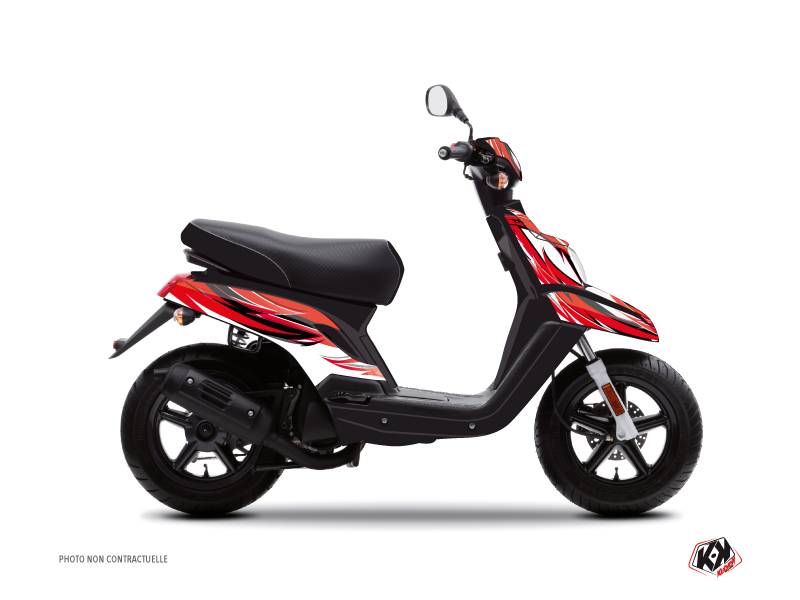 MBK Booster Scooter Electro Graphic Kit Red