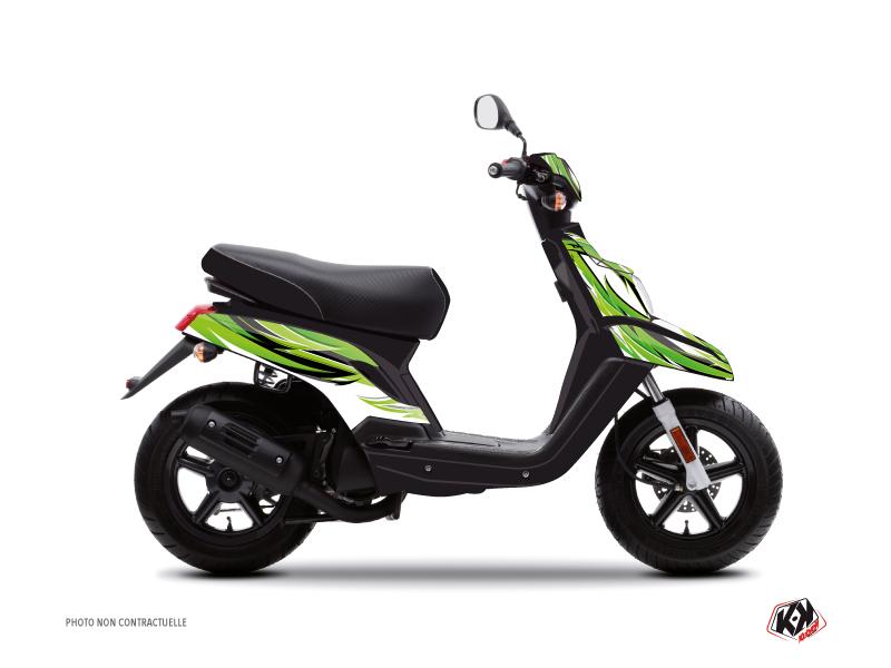 Yamaha BWS Scooter Electro Graphic Kit Green