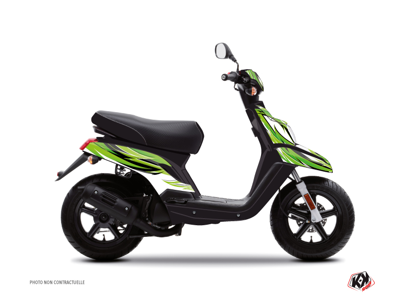 MBK Booster Scooter Electro Graphic Kit Green