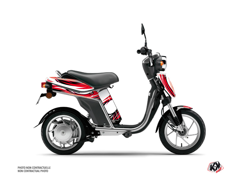 Yamaha Eco-3 Scooter Electro Graphic Kit Red