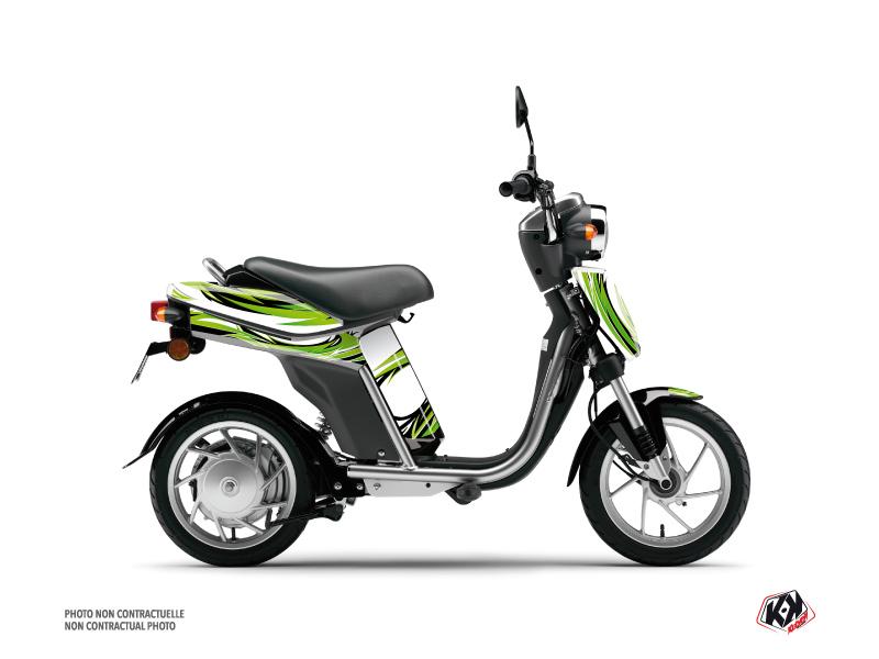 Yamaha Eco-3 Scooter Electro Graphic Kit Green