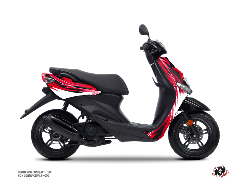 Kit Déco Scooter Electro MBK Ovetto Rouge
