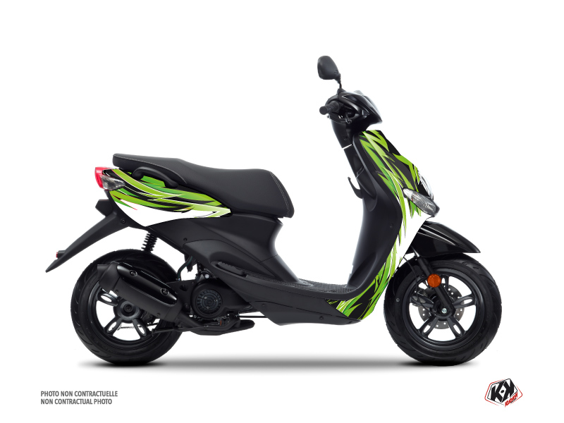 Yamaha NEOS Scooter Electro Graphic Kit Green