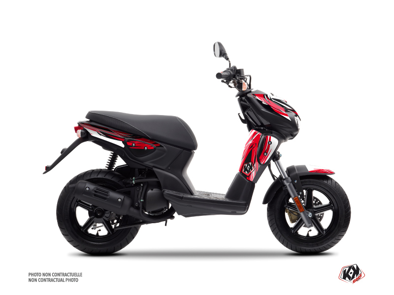 Yamaha Slider Scooter Electro Graphic Kit Red