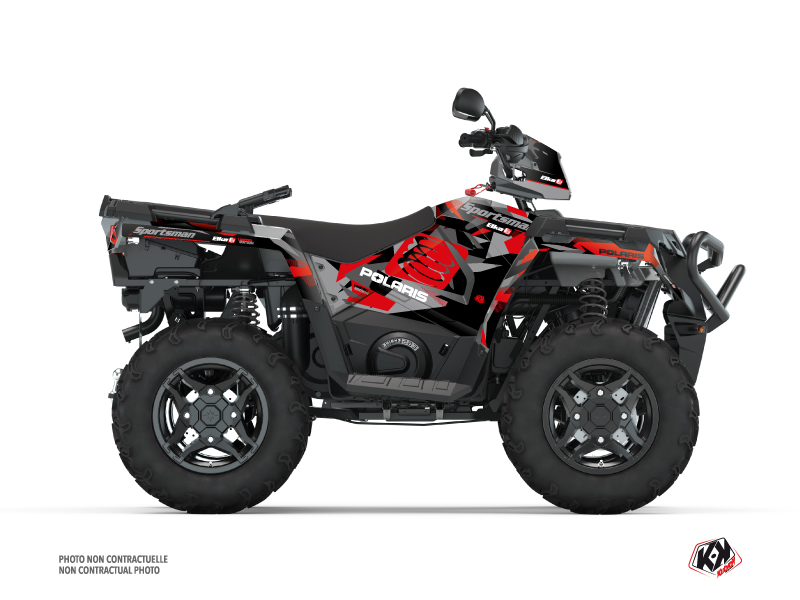 Polaris 450 Sportsman ATV Elka Graphic Kit Grey Red
