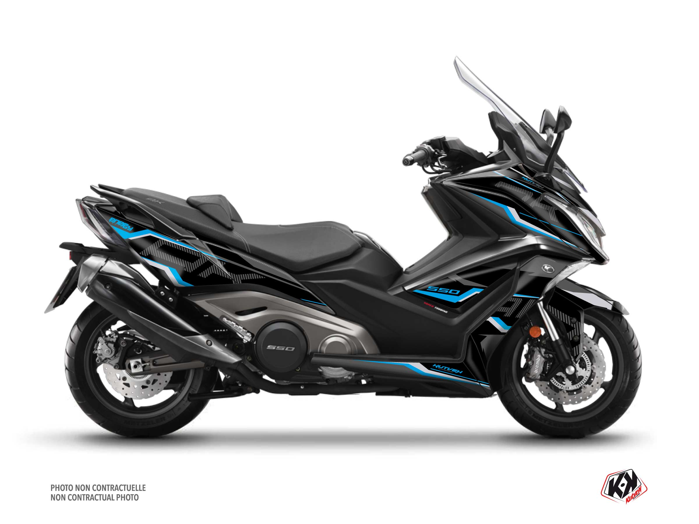 Kymco AK 550 Maxiscooter Energy Graphic Kit Black Blue