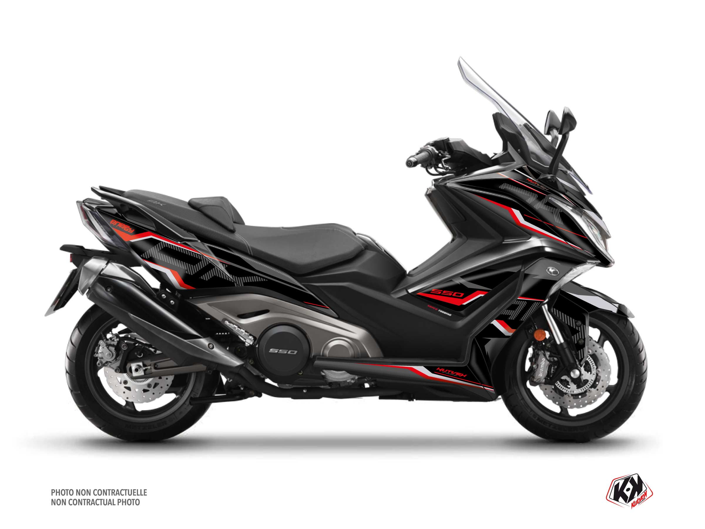Kymco AK 550 Maxiscooter Energy Graphic Kit Black Red