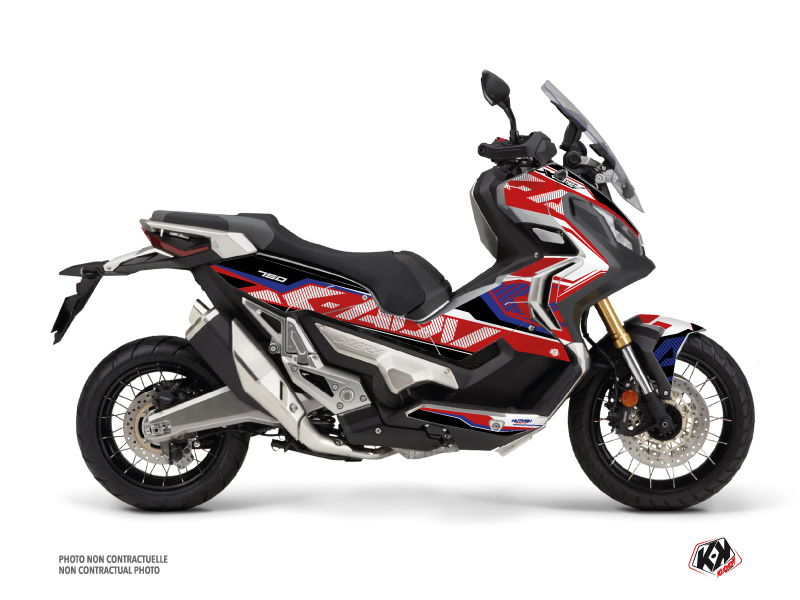 Honda X-ADV Maxiscooter Energy Graphic Kit Red Blue