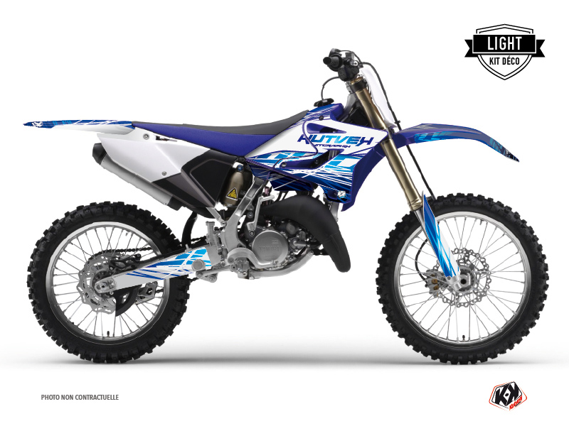 Kit Déco Moto Cross Eraser Yamaha 250 YZ Bleu LIGHT