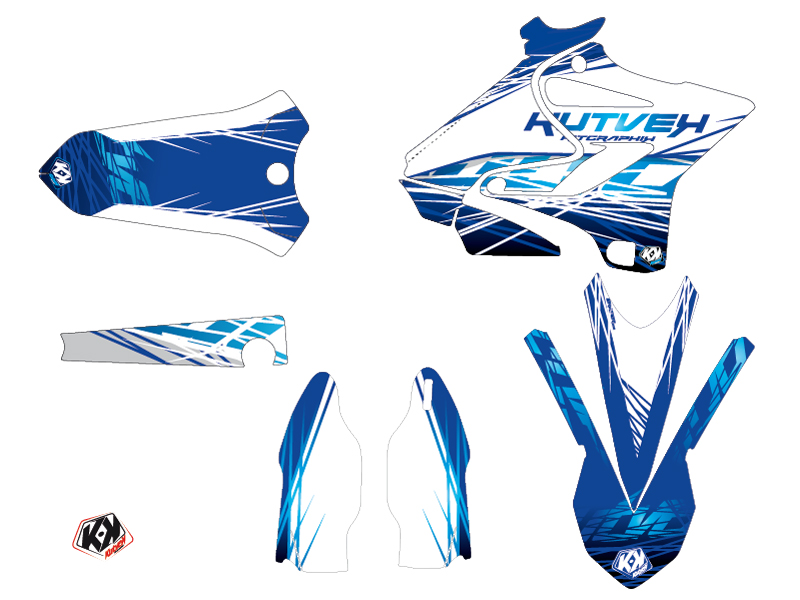 Kit Déco Moto Cross Eraser Yamaha 125 YZ Bleu LIGHT