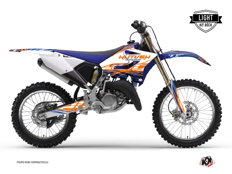 Kit Déco Moto Cross Eraser Yamaha 250 YZ Bleu Orange LIGHT