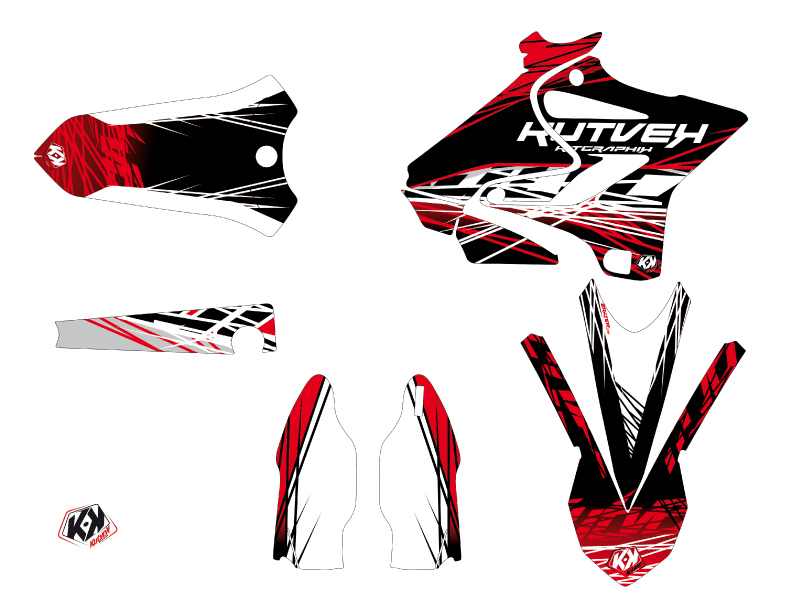 Yamaha 125 YZ Dirt Bike Eraser Graphic Kit Red White LIGHT
