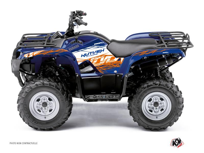 Yamaha 125 Grizzly ATV Eraser Graphic Kit Blue Orange
