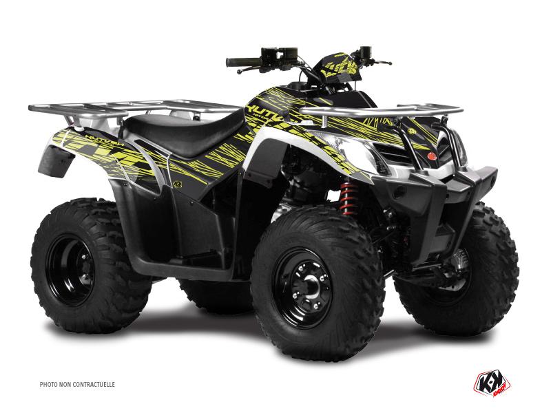 Kymco 250 MXU ATV Eraser Graphic Kit Neon Grey