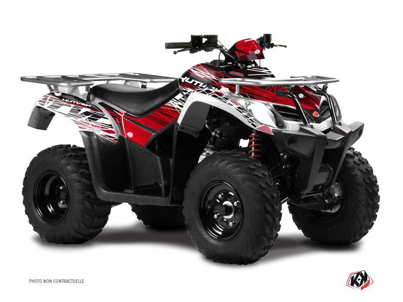 Kymco 250 MXU ATV Eraser Graphic Kit Red White