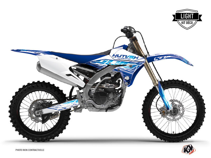 Yamaha 250 YZF Dirt Bike Eraser Graphic Kit Blue LIGHT