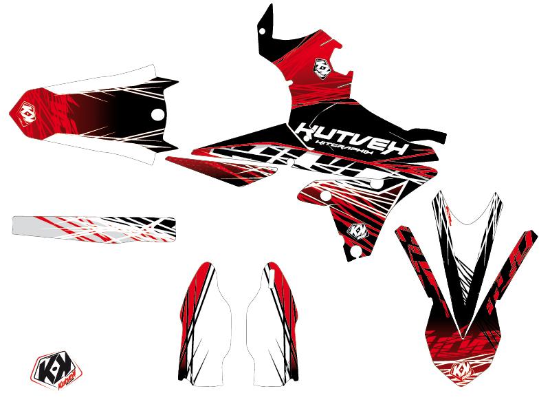 Yamaha 450 YZF Dirt Bike Eraser Graphic Kit Red White LIGHT