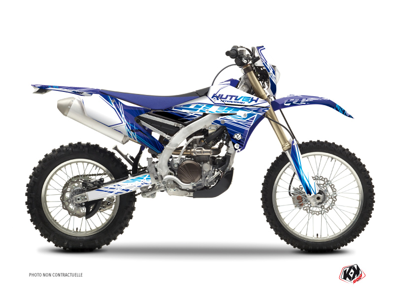 Yamaha 250 WRF Dirt Bike Eraser Graphic Kit Blue