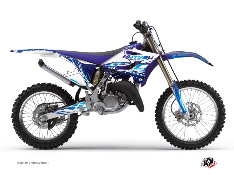 Yamaha 250 YZ Dirt Bike Eraser Graphic Kit Blue