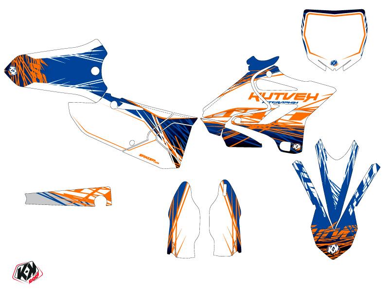 Kit Déco Moto Cross Eraser Yamaha 250 YZ Bleu Orange